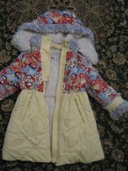 Пальто дубленка,  маленькая леди, фирма orby.