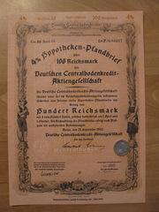 100 рейхсмарок 1942 г. Облигация периода III рейха.