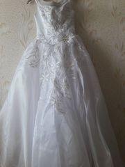 Свадебное платье,  накидка, фата