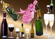 стеклотара. бутылка для вина и шампанского.